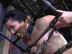 Big ass bound slave likes being spanked hard BDSM porn