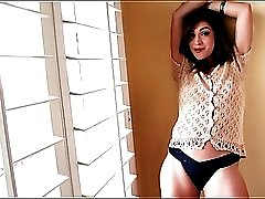 Pornstar Alyssa Reece in a sexy cardigan sweater