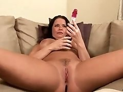 Busty housewife Maya divine has some interview and nice hardcore fucking on bed