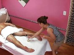 Man acquires double enjoyment from massage and sex