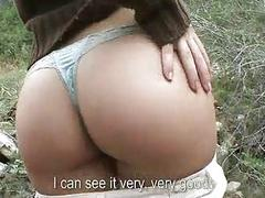 Naughty Czech girl screwed in the woods
