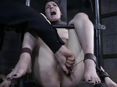 Slutty Endza Adair loves infernal restraints with dungeon master BDSM
