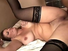 Desirable mature in stockings gets fucked