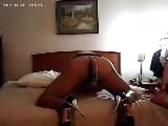 Mesmerizing shemale shows her asshole off on the camera seductively