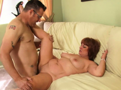 Cougar and her younger lover are fucking
