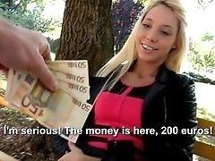 Teen blonde fucked for money