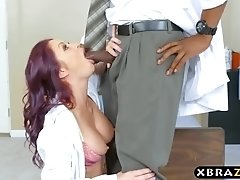 Black doctor gets lucky with two babes who want to fuck him