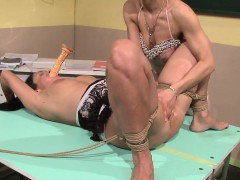 Dominated eurobabe pussyfingered and tiedup
