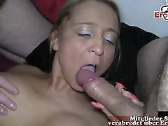 german housewife cum and creampie gangbang party