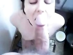Busted MILF Catherine Tayler POV blowjob 2