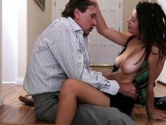 Sexy Daisy sucks and fucks a big cock