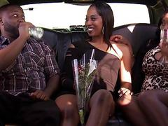 Black couple horny threesome with nasty lady