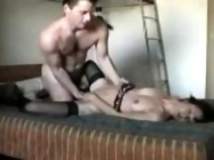 Huge guy fucks her difficult and tough