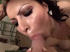 cumshot surprise and creampie for lexi diamond during ffm threesome