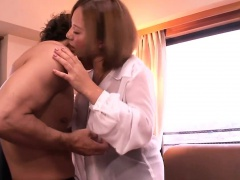 Japanese milfs face dripping jizz