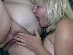 Mature blonde and brunette amateurs have kinky lesbian sex