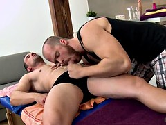 gay sex among a horny masseuse and his client