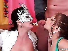 Pissing and cumming is hot in group video