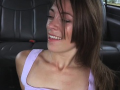 Pretty Brunette Kirsten Lee Fucked And Facial In Van