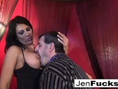 Two stacked brunettes bang one lucky dude!