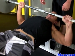 Cut gaybait pornstar fucked in the gym