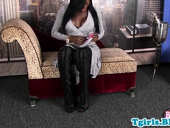 Nubian ts queen masturbating until cumshot