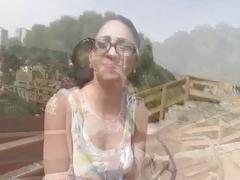 Julia was naked deepthroating a hard cock