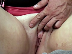 BBW redhead mature gets double penetrated on casting