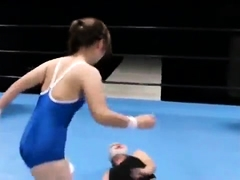 Pretty Japanese babes get stuffed with hard meat in the ring