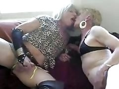 Juicy blonde trannies enjoy fucking like sluts in the crossdressing