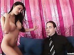 Hot handjob from big titty pornstar Aletta Ocean