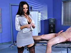 doctor ava addams strokes his penis to help it grow
