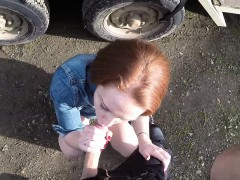 Redhead amateur pounded by cops hard cock