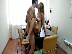 Hot boss fucks his secretary