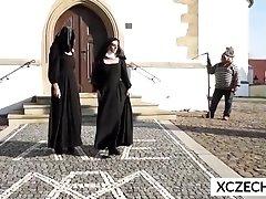 Monster Alert! Cathlic nuns and monster - XCZECH.com