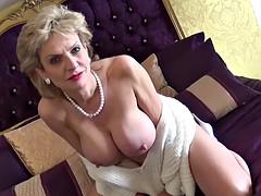 Big round milf tits with hard nipples