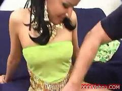 Cute Indian babe pounded