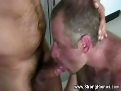 Hot muscular dick sucking and ass fucking