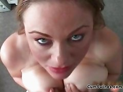 Slutty girl with big tits loves sucking part3