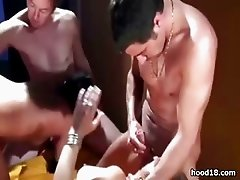 Two girls having fun in a hot orgy