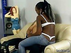 Hot black slut get her wet pussy fucked