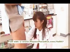 Mihiro innocent Chinese girl enjoys getting supermarket sex