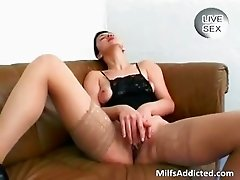 Very horny MILF sucks many cocks who part1