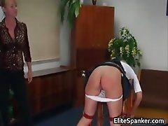 Sexy blonde babe gets bent over for some part4