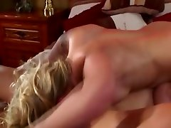 Brunette and blonde masturbating each other clits