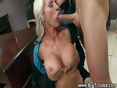 Blonde secretary milf fucked and cumshot from boss