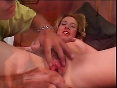 Blonde slut gets her pussy pounded