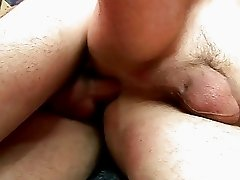 Hot blonde gay dude gives passionate blowjob