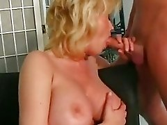busty blonde mom Carolyn Monroe enjoys a meaty stick screwing in her warm mouth