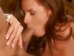 Saucy bitch Wanda Curtis rides her tasty twat on a rock hard boner